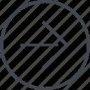 arrow, design, point, right, ui, ux icon