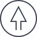 arrow, design, point, sleek, ui, up, ux icon