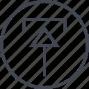 arrow, design, point, ui, up, upload, ux icon