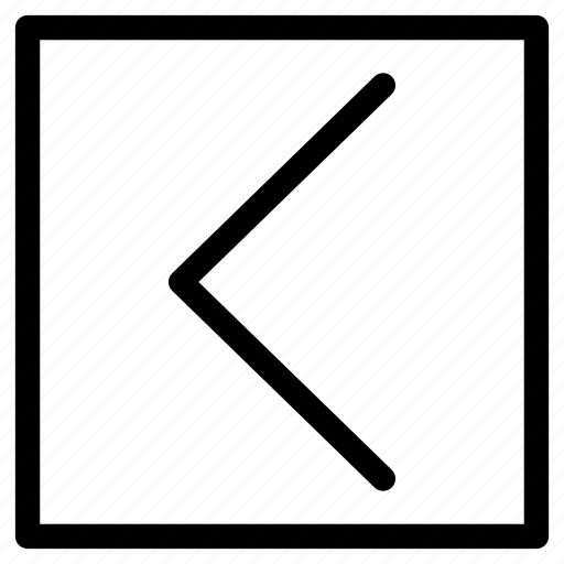 arrow, direction, left, square icon
