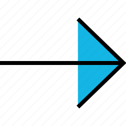 arrow, direction, point, right, thin icon