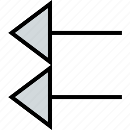 arrow, direction, exit, left, pointer icon