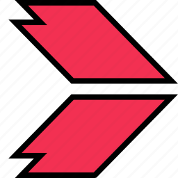 arrow, direction, pointer, right, thick icon