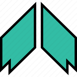 arrow, direction, pointer, thick, up icon