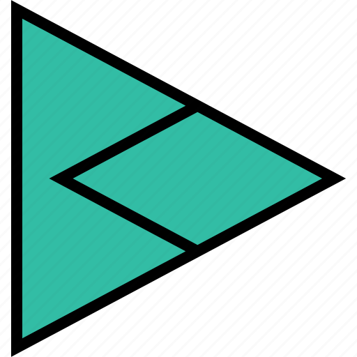 arrow, direction, pointer, right, triangle icon