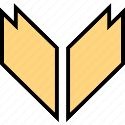 arrow, direction, down, pointer, thick icon