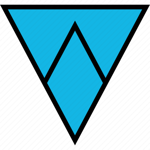 arrow, direction, down, pointer, triangle icon