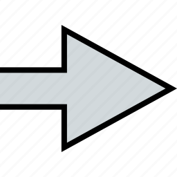 arrow, direction, go, pointer, thick icon