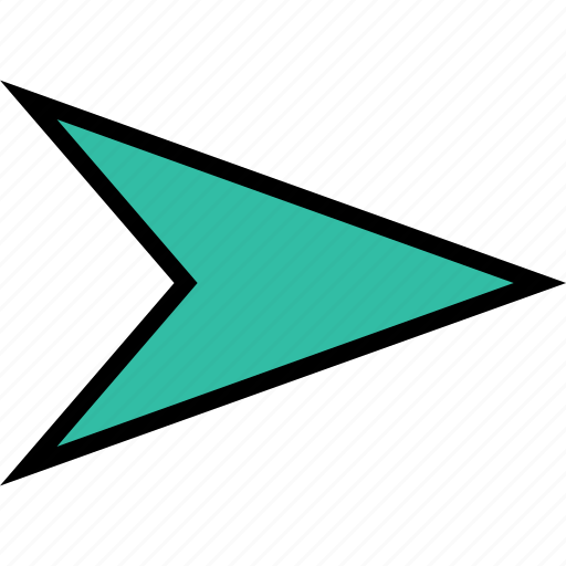 arrow, direction, gps, point, right icon