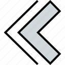 arrow, direction, double, left, pointer icon