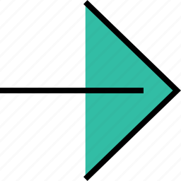 arrow, direction, pointer, right icon