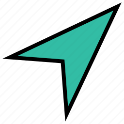 arrow, direction, pointer, sharp, up icon