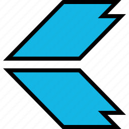 arrow, direction, left, pointer, thick icon