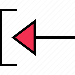 arrow, direction, left, pointer, thin icon