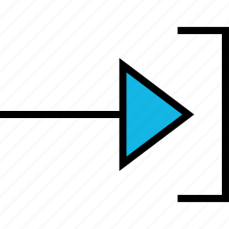arrow, direction, pointer, right, thin icon