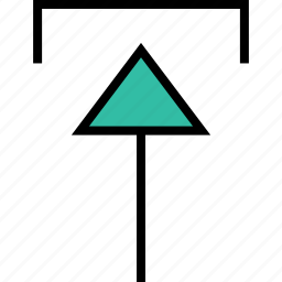 arrow, direction, pointer, thin, up icon