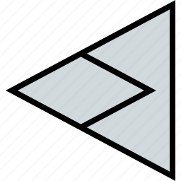 arrow, direction, left, pointer, triangle icon