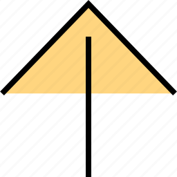 arrow, direction, pointer, up icon