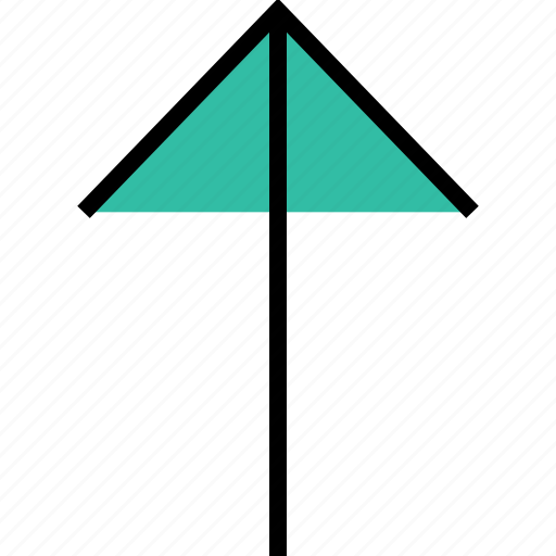 arrow, direction, point, thin, up icon