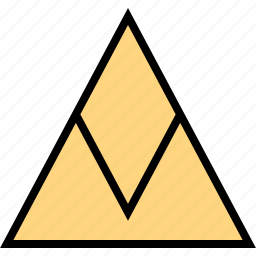 arrow, direction, pointer, triangle, up icon