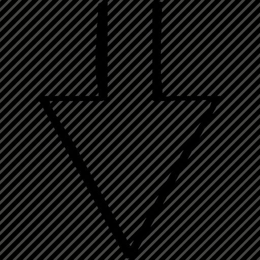 arrow, direciton, down, point, pointer icon
