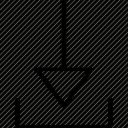 arrow, direciton, download, point, pointer icon