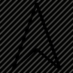 arrow, direciton, pin, point, pointer icon