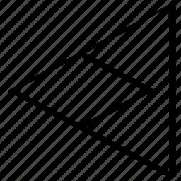 back, direciton, point, pointer, triangle icon
