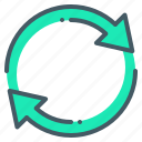 around, arrow, arrows, rotate icon