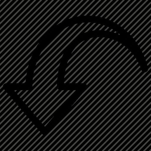 action, arrow, back, remove, retro, undo icon