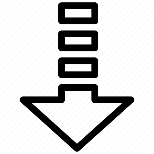 Arrow, bottom, down, download, downloader, instruction icon - Download on Iconfinder