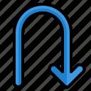 return, arrow, arrows, direction, user