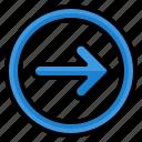 right, arrow, arrows, direction, user, circle