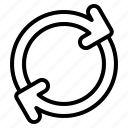 sync, synchronize, arrow, arrows, direction, user