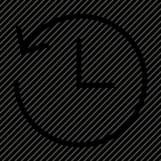 Arrow, time, arrows, back, backward, clock, left icon - Download on Iconfinder