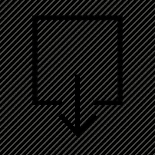 arrow, arrows, down, download, export icon