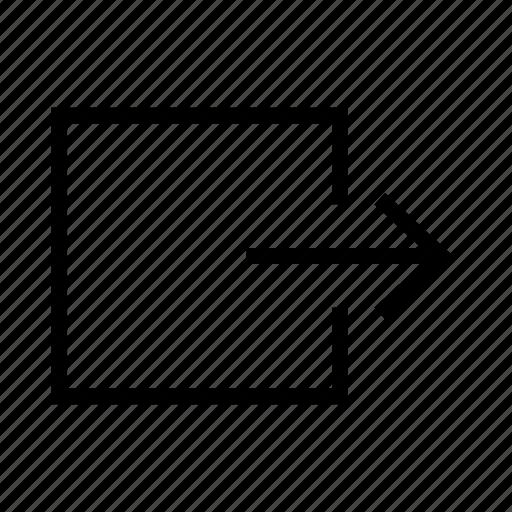 arrow, arrows, download, export, right icon