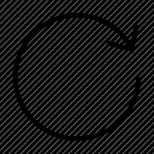 arrow, forward, refresh, update icon