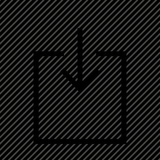 arrow, arrows, down, import, upload icon