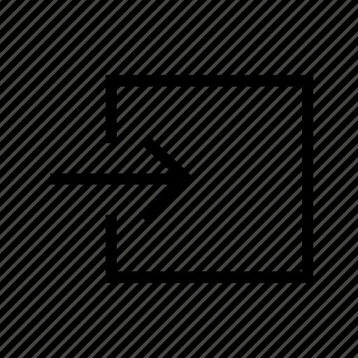 arrow, arrows, import, upload icon