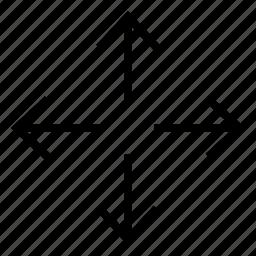 arrow, map, move, navigation icon