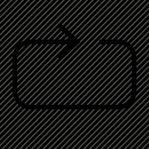 arrow, arrows, next, repeat icon