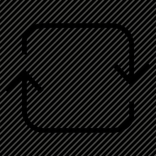 arrow, arrows, move, navigation, sync icon