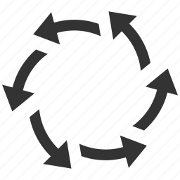 centrifugal, circular arrows, direction, refresh, revolve, rotate, spin icon