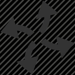 centrifugal, circular arrows, direction, refresh, revolve, rotate, spin icon