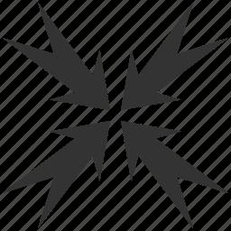 arrows, compress, compression, pressure, reduce, resize, shrink icon