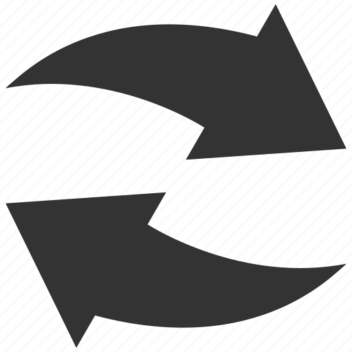 exchange, flip, flipping, mirror, refresh arrows, swap, update icon