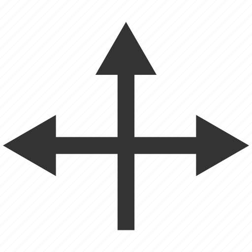 arrows, directions, intersection, move, navigation, pointer, variants icon