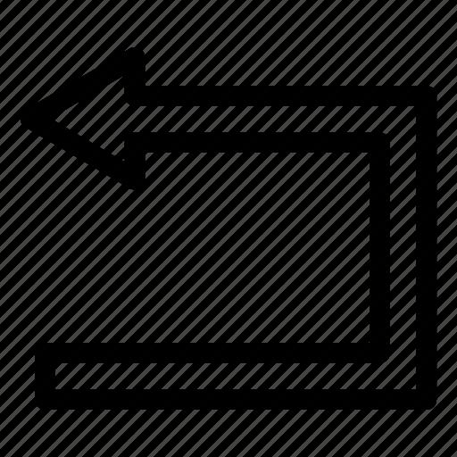 action, arrow, back, direction, previous, redo, undo icon