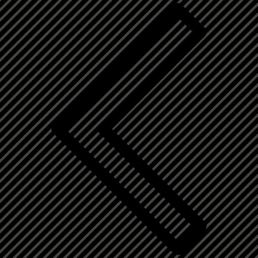 action, arrow, back, before, chevron, left, previous icon